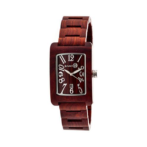Earth Wood Trunk Red Bracelet Watch with Date ETHEW2603