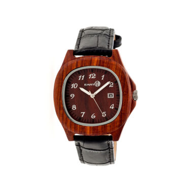jcpenney.com | Earth Wood Sherwood Red Leather-Band Watch with Date ETHEW2703