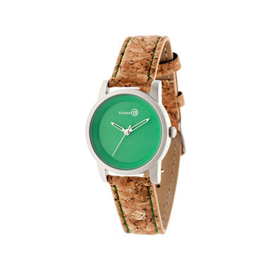 jcpenney.com | Earth Wood Canopies Green Dial Leather-Band Watch ETHEW2902
