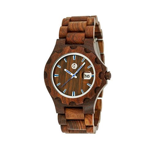 Earth Wood Gila Red Bracelet Watch with Date ETHEW3303