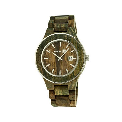Earth Wood Cherokee Olive Bracelet Watch with Date ETHEW3404