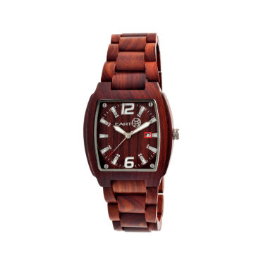 jcpenney.com | Earth Wood Sagano Red Bracelet Watch with Date ETHEW2403