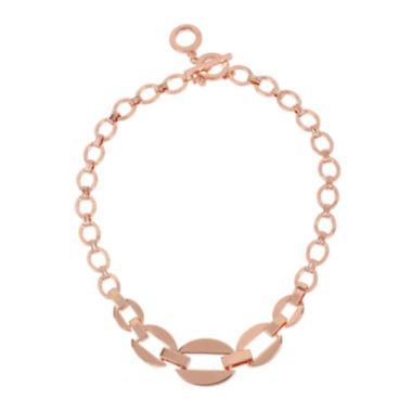 jcpenney.com | Worthington® Rose-Tone Link Collar Necklace