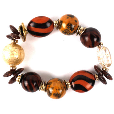 jcpenney.com | Aris by Treska Brown and Gold-Tone Chunky Bracelet