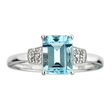 jcpenney.com | LIMITED QUANTITIES   Genuine Aquamarine 10K White Gold Ring