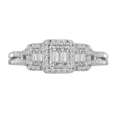 jcpenney.com | 3/8 CT. T.W. Diamond 10K White Gold  Vintage Inspired Engagement Ring