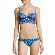 Arizona Cast A Spell Midkini Swim Top & Macramé Swim Bottoms - Juniors