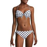 Arizona® Vanessa Dots Halter Push-Up Swim Top or Hipster Swim Bottoms