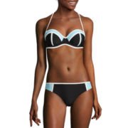 Arizona® Colorblock Push-Up Bandeau Swim Top or Hipster Swim Bottoms