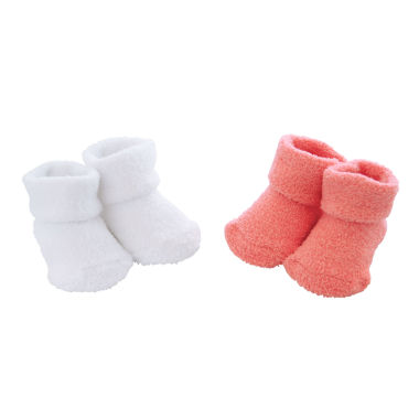 jcpenney.com | Carter's® Folded Cuff 2-pk. Chenille Booties - Baby Girls newborn-24m