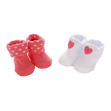 jcpenney.com | Carter's® 2-pk. Heart Booties - Baby Girls newborn-24m