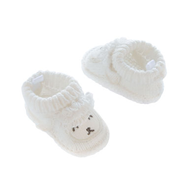 jcpenney.com | Carter's® Knitted Sheep Crocheted Booties - Baby Girls newborn-24m