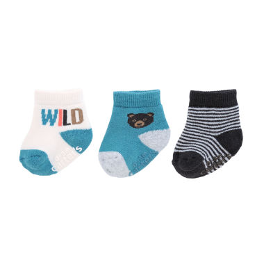 jcpenney.com | Carter's® 3-pk. Happy Socks - Baby Boys newborn-24m