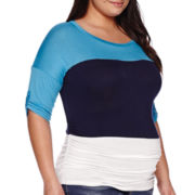 Maternity Elbow-Sleeve Dolman Top