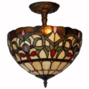 Amora Lighting™ Tiffany Style Floral Scalloped Ceiling Light