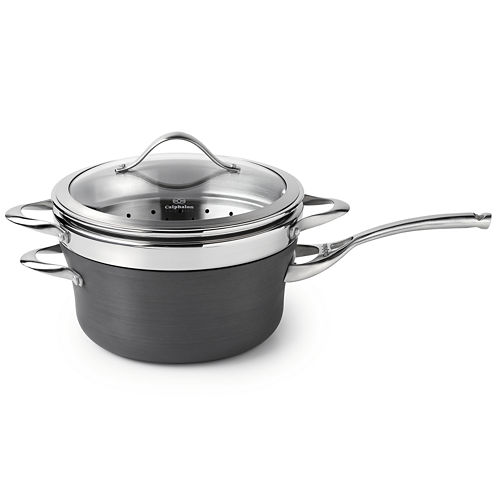 Calphalon® Contemporary Hard-Anodized 4.5-qt. Sauce Pan With Steamer Insert