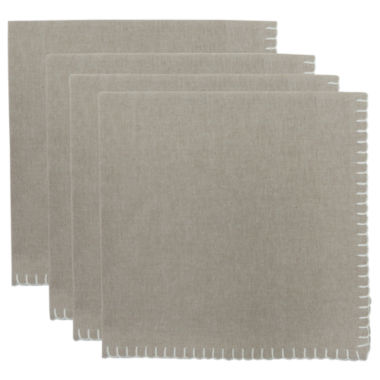 jcpenney.com | Metro Farmhouse By Park B. Smith® Chambray Set of 4 Crochet-Edged Napkins