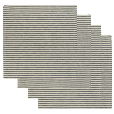 jcpenney.com | Metro Farmhouse By Park B. Smith® Ticking Stripe Set of 4 Natural Black Placemats