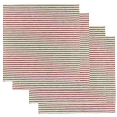 jcpenney.com | Metro Farmhouse By Park B. Smith® Ticking Stripe Set of 4 Natural Redwood Placemats