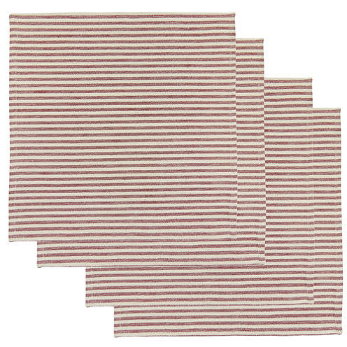 Metro Farmhouse By Park B. Smith® Ticking Stripe Set of 4 Natural Redwood Placemats