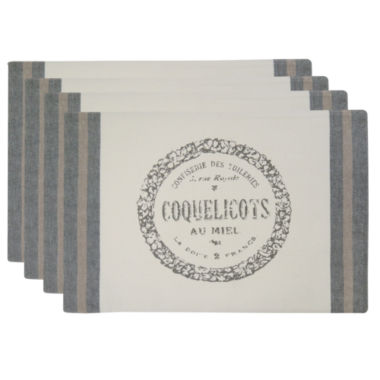 jcpenney.com | Metro Farmhouse By Park B. Smith® Coquelicots Set of 4 Placemats