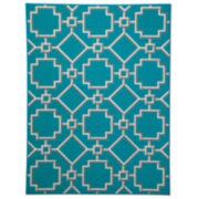 Signature Design by Ashley® Zarek Rectangular Rug - Turquoise
