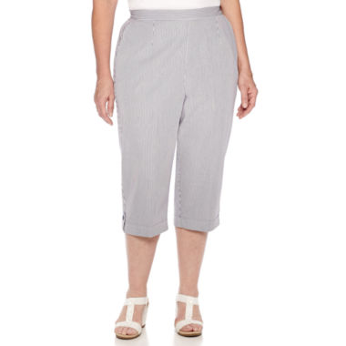 jcpenney.com | Alfred Dunner® Augustine Pull-On Striped Capri Pants
