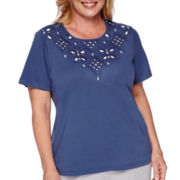 Alfred Dunner® Augustine Short-Sleeve Yoke Cutout Tee