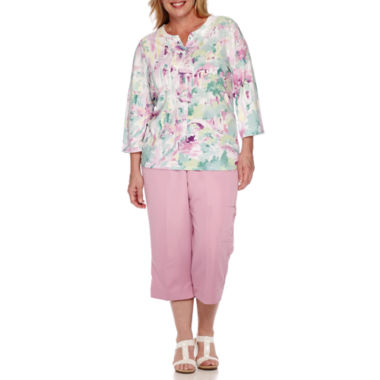 jcpenney.com | Alfred Dunner® Savannah 3/4-Sleeve Scenic Tee or Pull-On Capris