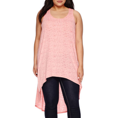 jcpenney.com | Boutique+ Burnout Hi-Lo Tank Top - Plus