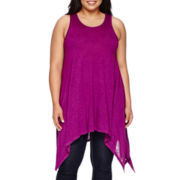 Boutique+ Sharkbite Tunic Tank Top - Plus