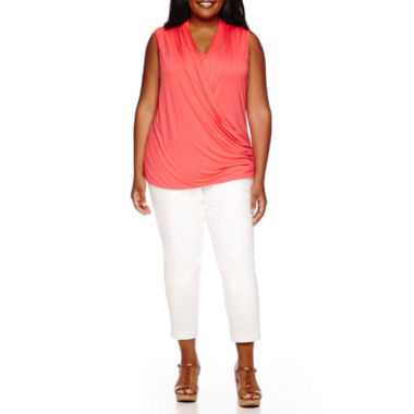 jcpenney.com | Liz Claiborne® Crossover Wrap Tank or Emma Ankle Pants - Plus