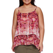a.n.a® Layered Strappy Tank Top - Plus