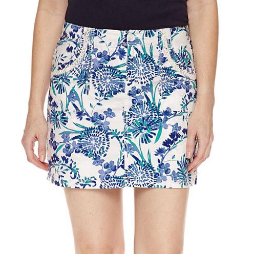 """St. John's Bay Floral Cotton Blend 5"""" Skorts"""