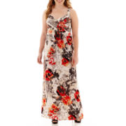 Robbie Bee® Sleeveless Floral Print Maxi Dress - Plus