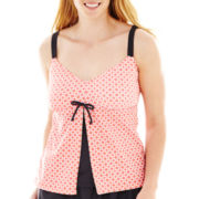 Beach Native® Coral Print Tankini Swim Top - Plus