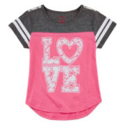 Okie Dokie® Lace Football Tee - Preschool Girls 4-6x