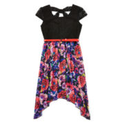 Disorderly Kids® Floral Shark-Bite Dress - Girls 7-16