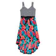 Total Girl® Floral High-Low Maxi Dress - Girls 7-16
