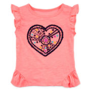 Arizona Ruffle-Sleeve Knit Tee - Girls 3m-24m