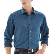 Claiborne® Long-Sleeve Striped Woven Shirt