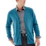 Claiborne® Cotton-Cashmere Cardigan