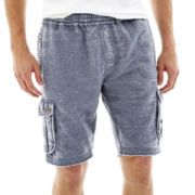 Mortar Original Burnout Fleece Cargo Shorts