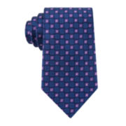 Stafford® Clayton Neat Silk Tie - Extra Long