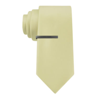 jcpenney.com | JF J. Ferrar® Solid Satin Tie and Tie Bar Set - Extra Long