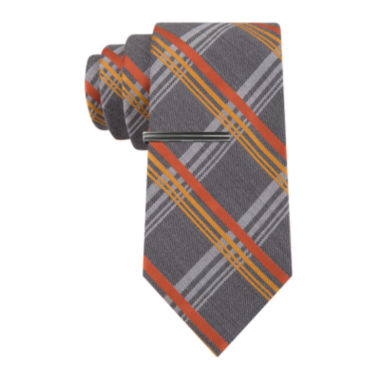 jcpenney.com | JF J. Ferrar® Neon Pop Plaid Tie - Extra Long
