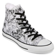 Converse Chuck Taylor Womens Outline Floral High-Top Sneakers