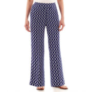 Alfred Dunner® Catalina Island Medallion Print Pull-On Pants - Petite
