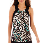 Worthington® Colorblock Print Halter Top - Petite