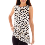 Worthington® Asymetrical-Hem Tank Top - Petite